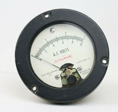 Vintage Triolab Ac Volts Panel Meter Gauge Range 0 To 3 Date 1962