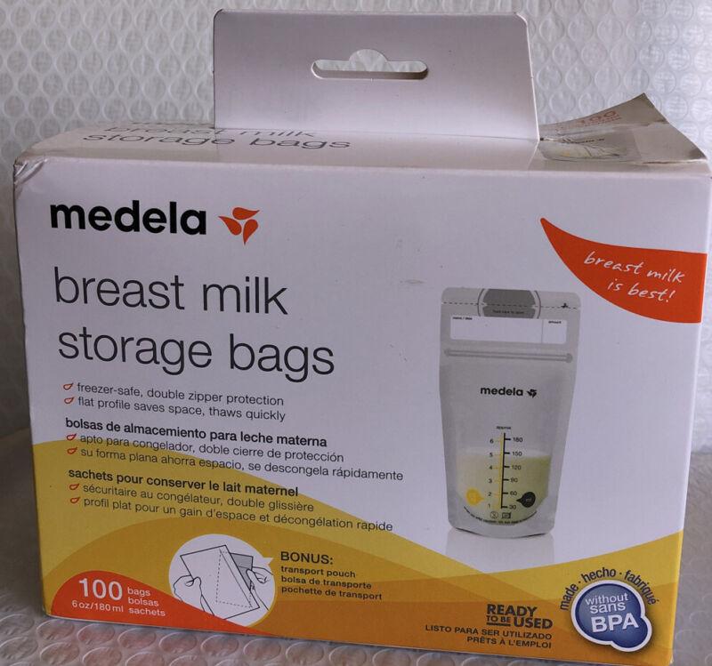 Medela Breast Milk Storage Bags 100 count per Box    *NEW