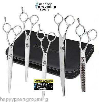 PRO GROOMING 6 pc SHEAR SCISSORS Dog Cat Groomer SET THINNING,CURVED& 3 STRAIGHT