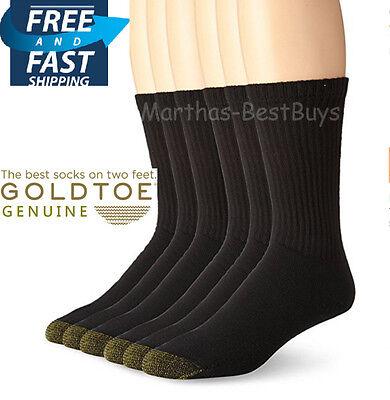 Gold Toe Athletic 6 Pr. Pack Cotton Crew Sock