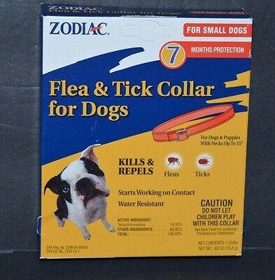 FLEA & TICK COLLAR FOR DOGS ZODIAC FOR SMALL DOGS ( 7 MONTHS PROTECTION)