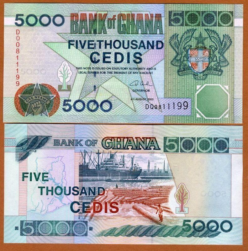 Ghana / Africa, 5000 Cedis, 2003. P-34 (34i), UNC