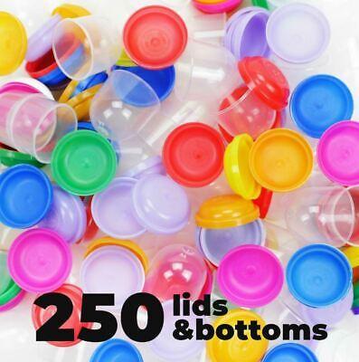 Gumball Machine Empty Capsules 1.1 250 Pcs Bulk 8 Colors Acorn Capsule Vending