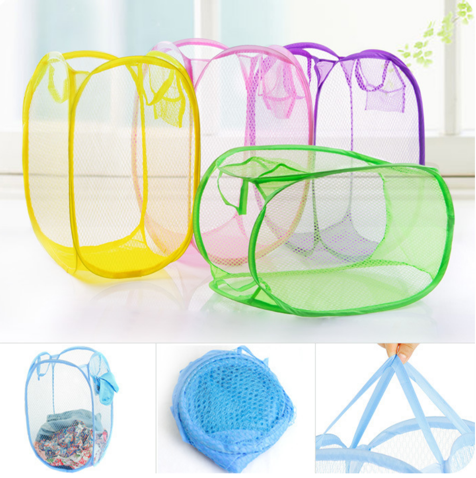 Random Color Traveling Laundry Basket Collapsible Laundry Ha