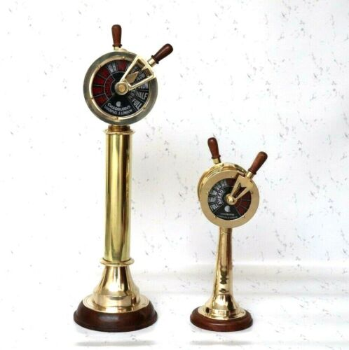 Set Of 2 Brass Ship