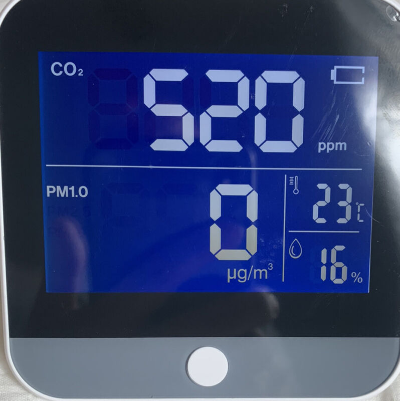 Air Quality Detector HCHO PM2.5 PM10 Temperature Humidity Monitor Indoor