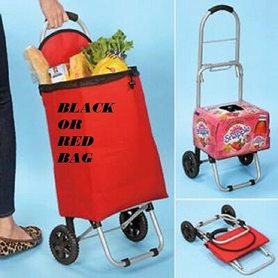 2 in 1 Folding Cart Shopping Handy Cart/ Dolly Groceries with RED BAG ONLY!