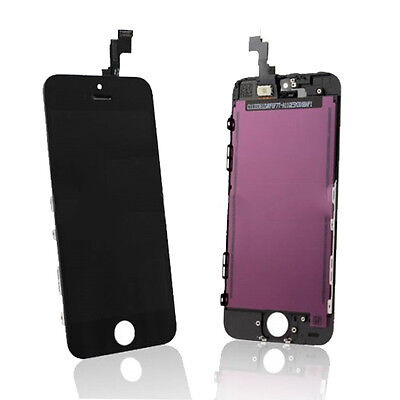 LCD Lens Touch Screen Display Digitizer Assembly Replacement for iPhone 5S Black on Rummage