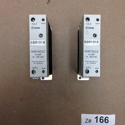 1 Lot Of 2 Crouzet Gnr10dcz Solid State Relay Din Rail 22.5mm 240vac10a.