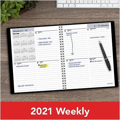 At-a-glance 2021 Dayminder Block Ruled Weekly Planner Black 7 X 8 G535-00