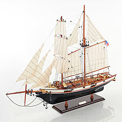 "1847 Harvey Baltimore Clipper Wooden Model Tall Ship 35"" Sailboat"