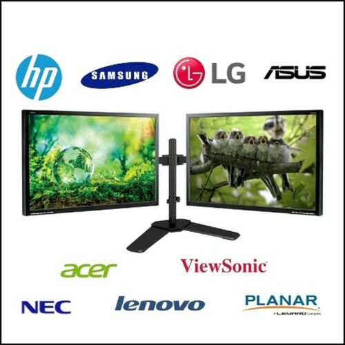 """MAJOR BRAND DUAL LCD 24"""" HDMI LCD MONITOR SCREEN GAMING WITH DUAL LCD STAND"""