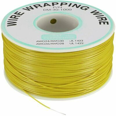 Pn Dm-30-1000 Yellow Insulated Pvc Coated 30awg Wire Wrapping Wires Reel 820ft