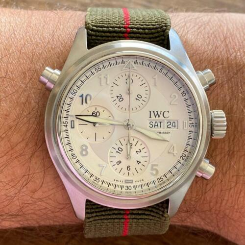 IWC SPITFIRE DOPPELCHRONOGRAPH 3713 SPLIT SECONDS AUTOMATIC WATCH 100% GENUINE - watch picture 1