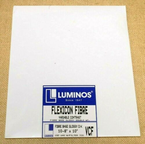 LUMINOS FLEXICON FIBRE 8X10 ENLARGING PAPER--FACTORY SEALED--VINTAGE