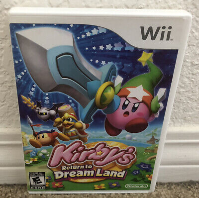 Kirby's Return to Dream Land Wii Game (Nintendo Wii, 2011) **TESTED AND WORKS**