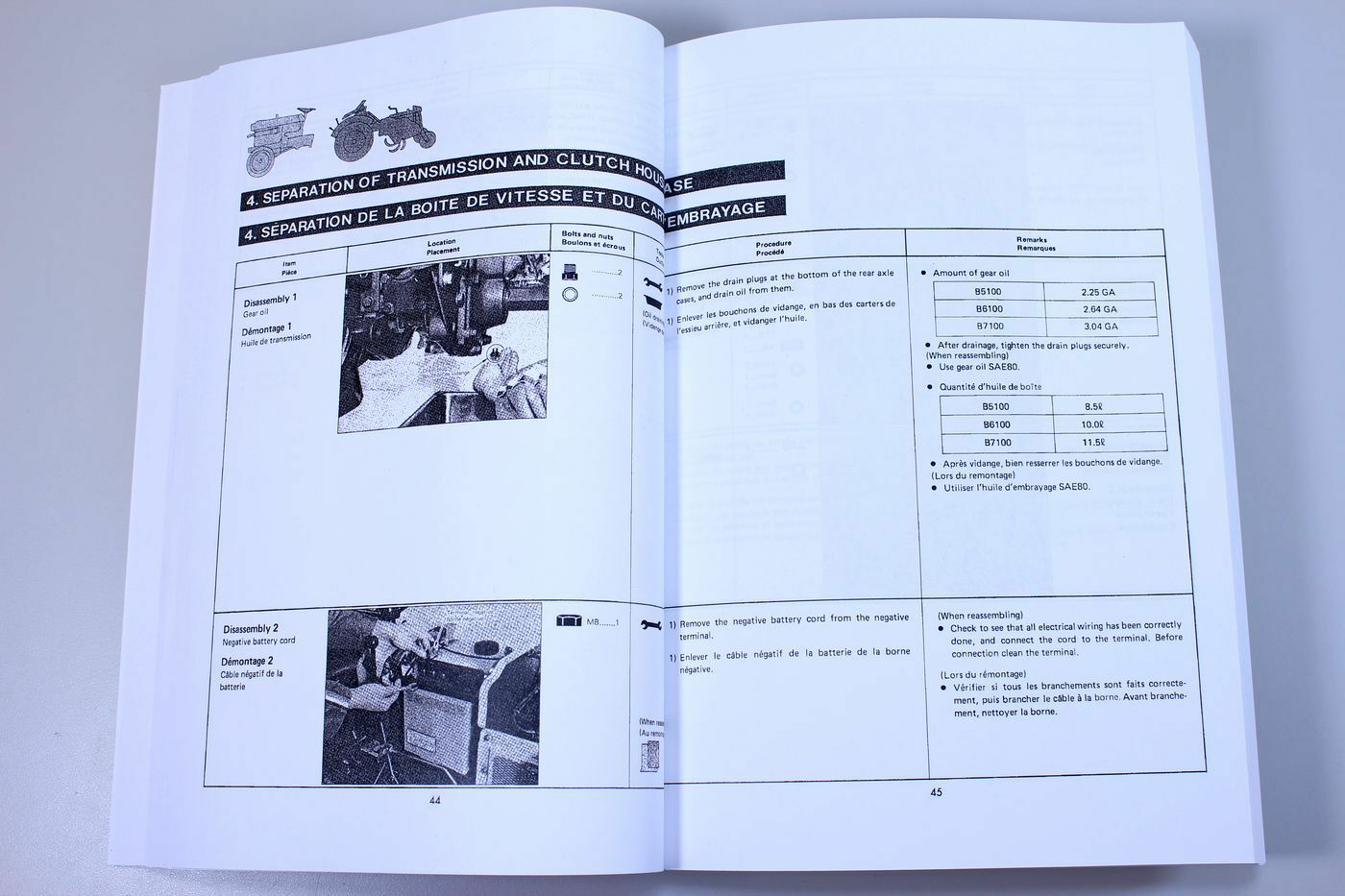 5 of 12 Kubota B5100 B6100 B7100 Tractor Service Repair Manual Shop Book  Overhaul