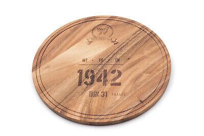Ironwood Gourmet Multi-Use Circle Serving Board, Acacia Wood, 1942 Wine Barrel