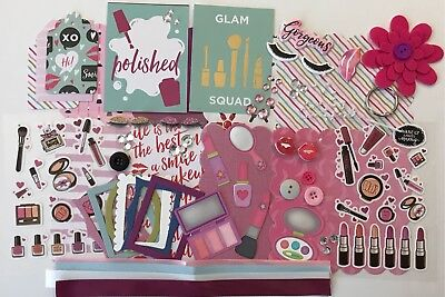 Makeup Make Up Artist MUA Glam Squad Chipboard Mini Book Album Kit Scrapbooking