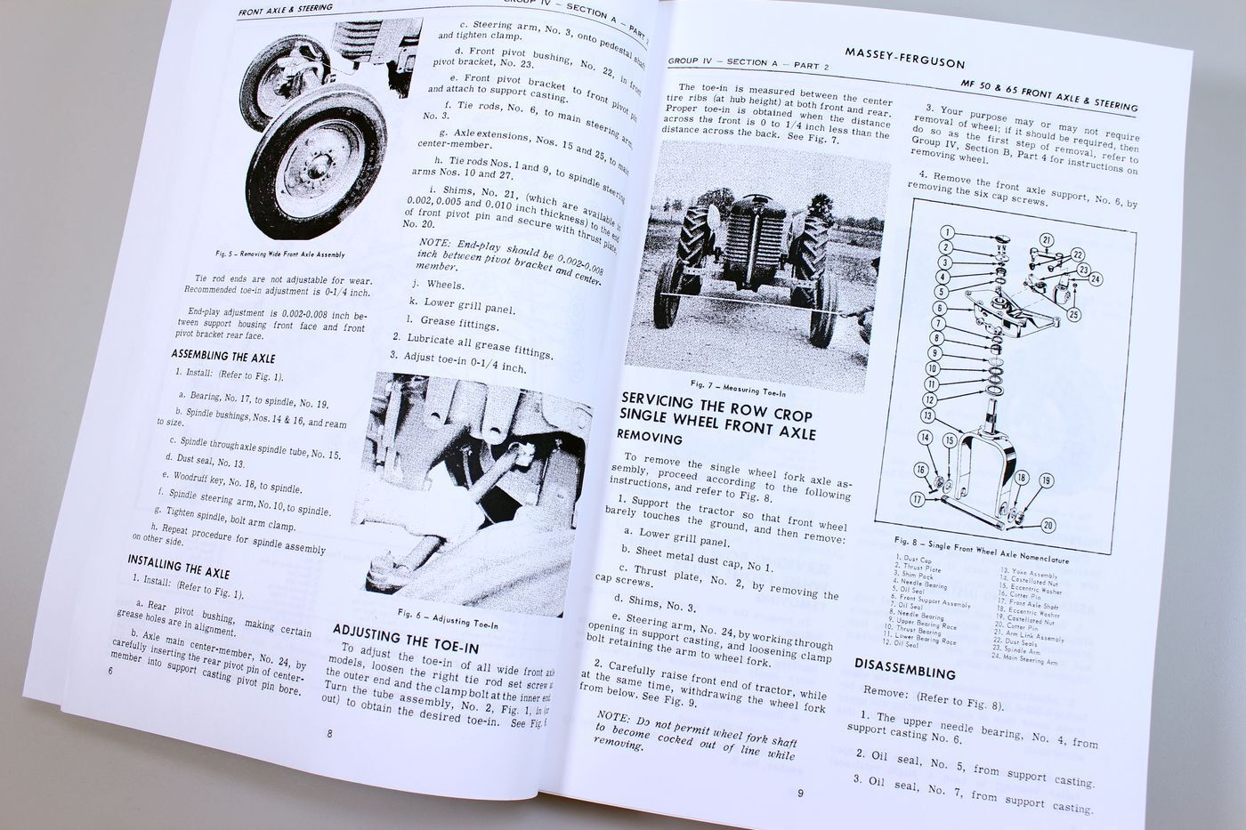 2 of 7 Massey Ferguson Mf 65 Tractor Service Manual Technical Repair Shop  Workshop