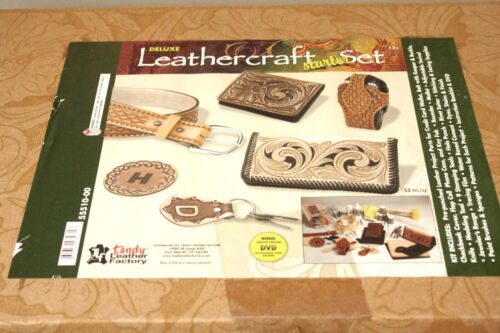 Tandy Deluxe Leathercraft Starter Set 55510-00 NEW Open Box Complete 5 Projects