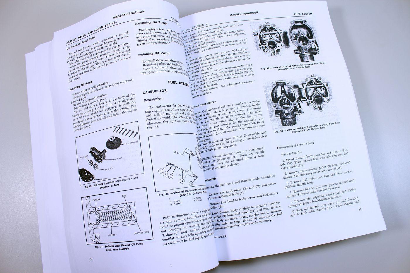 6 of 10 Massey Ferguson 180 Tractor Service Repair Shop Manual Technical  Workshop Mf180
