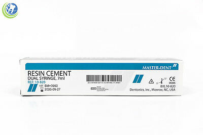 New Dental Resin Cement Dual Barrel Syringe 7 Ml W Tips Reinforced Permanent