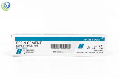 New Dental Resin Cement Dual Barrel Syringe 7 ml w/ Tips Reinforced Permanent