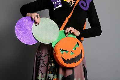 Pumpkin Jack (Sweet Midnight Pumpkin Jack-o'-Lantern Goth Punk Halloween Crossbody Purse)