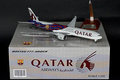 Qatar Airways 777 300Er  Fc Barcelona  A7 Bae Jc Wings 1 200 Models Xx2757