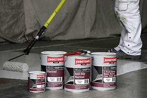 5lt johnstones trade anti slip floor paint interior exterior dark grey ebay - Johnstones exterior paint set ...