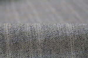Light Weight Check Weave Wool Mix Suiting/Coating Fabric (Light Grey)