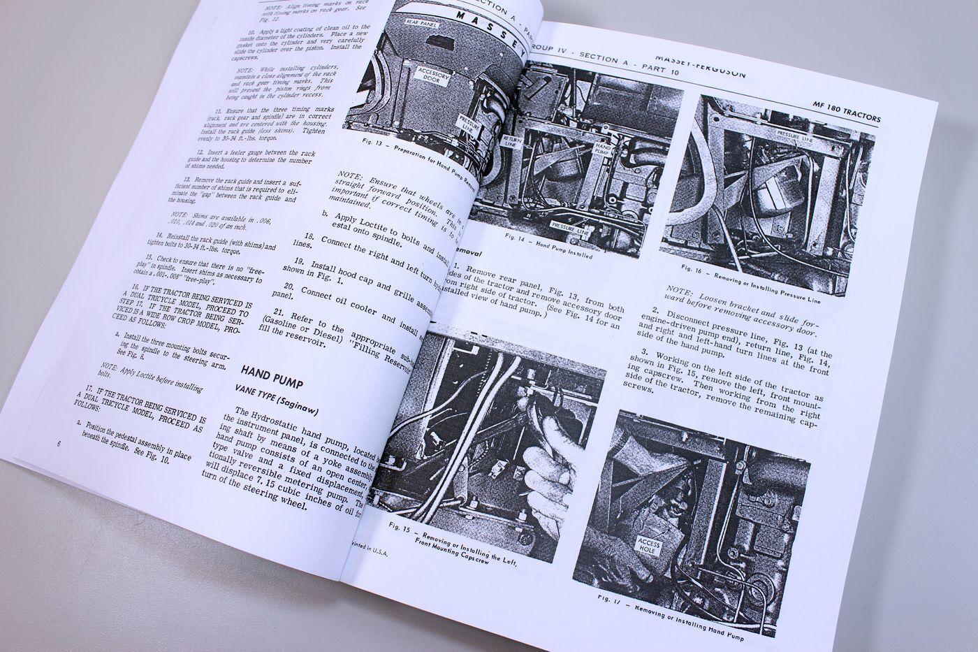 3 of 10 Massey Ferguson 180 Tractor Service Repair Shop Manual Technical  Workshop Mf180