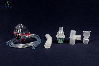 Child Pediatric Aerosol Nebulizer Mask W  Disposable Neb Kit For Asthma Copd