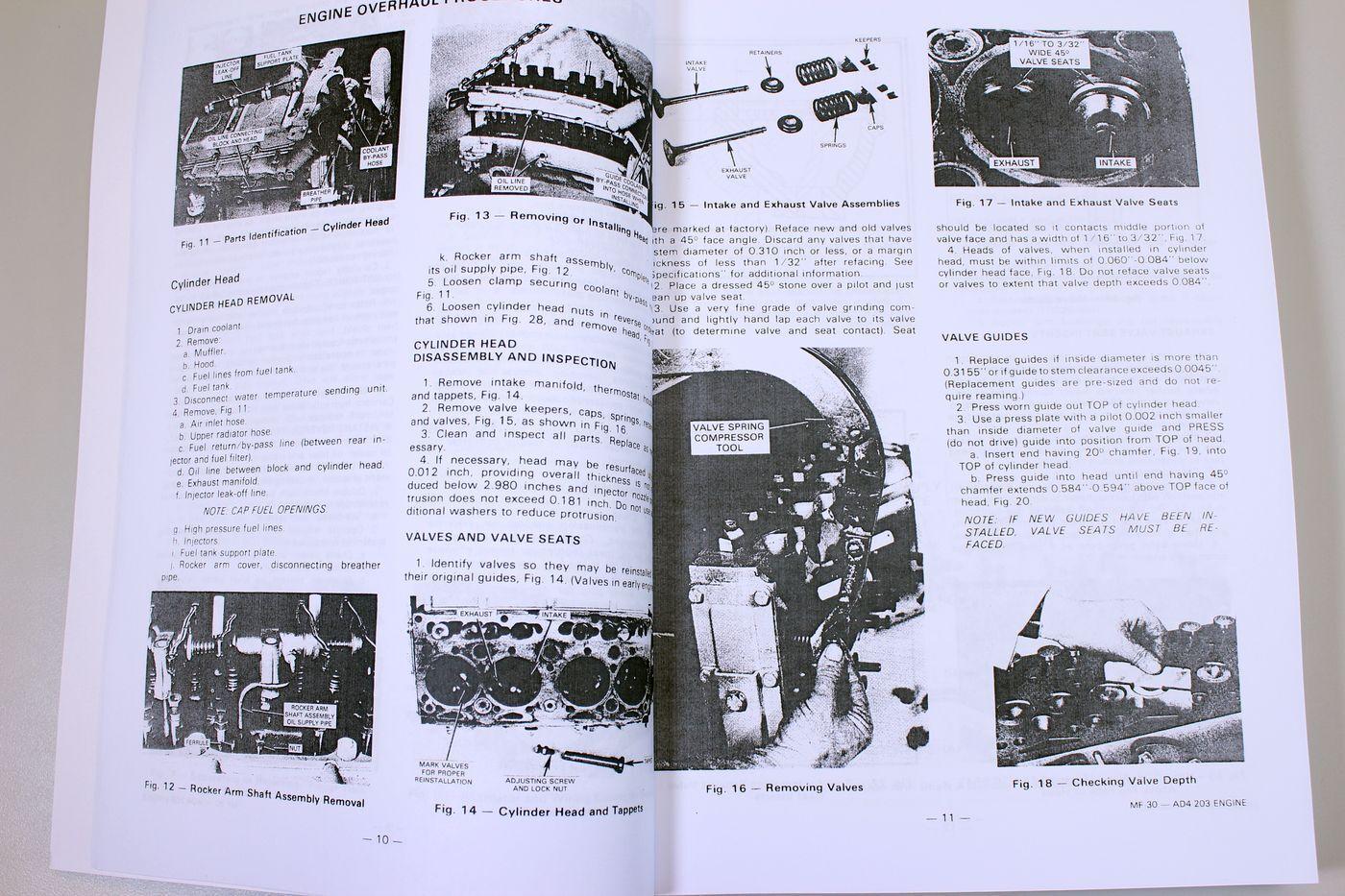 5 of 8 Massey Ferguson Mf 30 Industrial Tractor Service Parts Manuals Repair  Catalog
