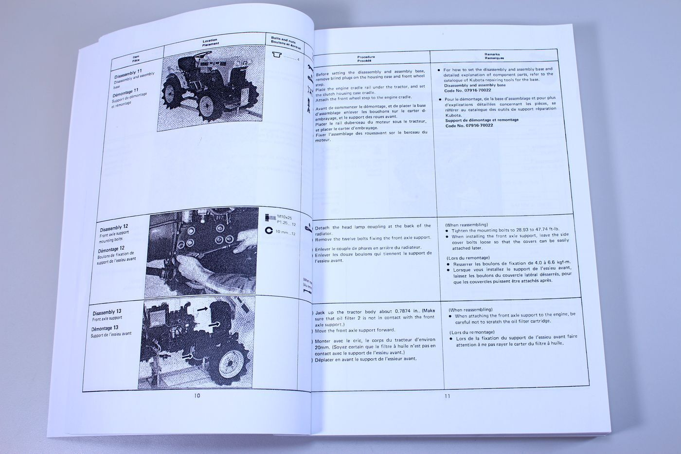 4 of 12 Kubota B5100 B6100 B7100 Tractor Service Repair Manual Shop Book  Overhaul