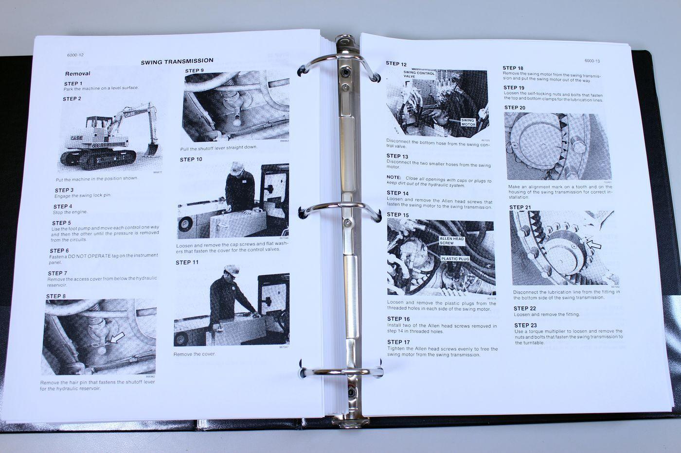 9 of 12 Case 688 Crawler Excavator Service Technical Manual Repair Shop  Book Overhaul