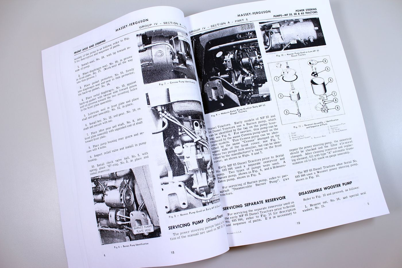 4 of 7 Massey Ferguson Mf 65 Tractor Service Manual Technical Repair Shop  Workshop 5 of 7 Massey ...
