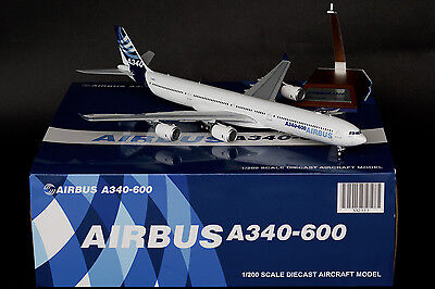 """Airbus Industrie A340-600 """" House Color """" F-WWCA JC Wings 1:200 Diecast   XX2333 for sale  Shipping to Canada"""