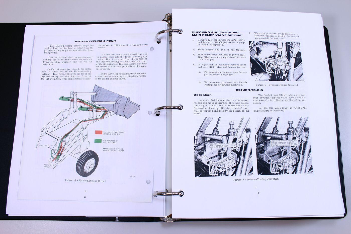 7 of 12 Case 580Ck Tractor Loader Backhoe Service Manual Shop Book  Construction King