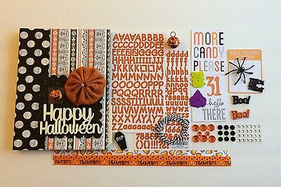 Happy Halloween Chipboard Mini Book Album Junk Art Mixed Media Journal](Halloween Mini Books)