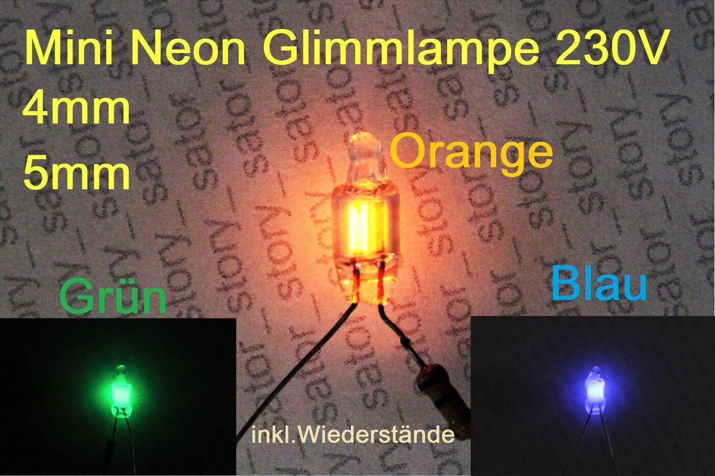 Mini Neon Glimmlampe 230V AC Neonleuchte Neon Indicator