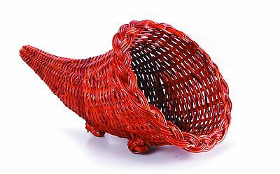 Wicker Cornucopia Basket Party Supplies, 12