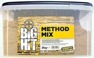 Crafty Catcher Big Hit Method Mix Bucket 3Kg Fishing Bait PVA Friendly