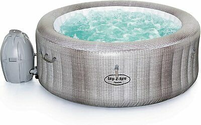Lay-Z-Spa Cancun Hot Tub with Stylish Rattan Design, AirJet Inflatable Spa, 2 -