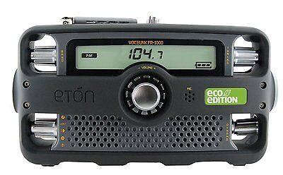 Eton FR1000 Self Powered Hand Crank AM/FM/NOAA Weather/2 Way GMRS Clock Radio