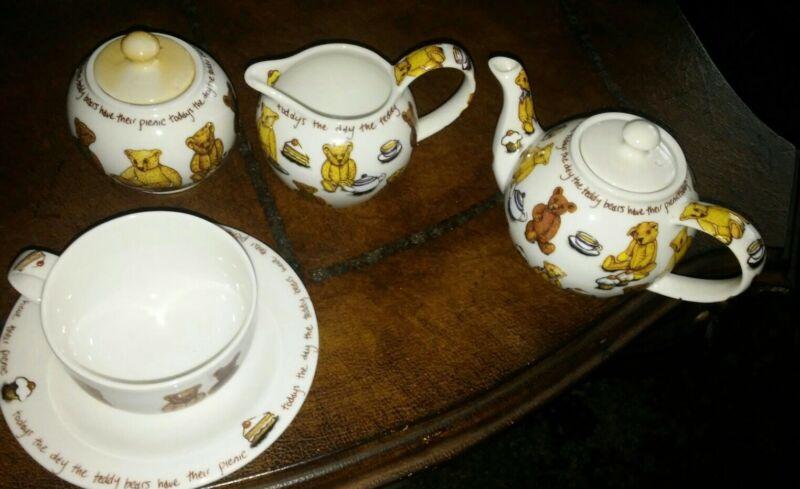 Paul Cardew Ted Tea Teddy Bear Tea set lot