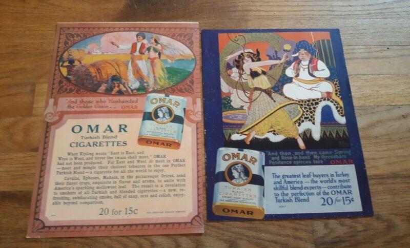 2 Genuine Circa 1915 Omar Cigarettes Ads From Magazine Color Beautiful