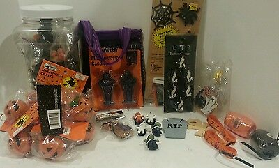 Huge Halloween craft lot bells pompoms ribbon decor projects brooms](Halloween Decorations Projects)