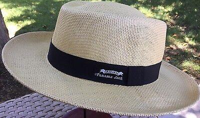 PANAMA JACK STRAW CLASSICO HAT GOLF SUN PROTECTION L/XL 59-61cm NATURAL - Straw Sun Hats